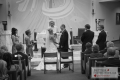 Catholic, Church, wedding, St.Joseph, Wedding Ceremony, Black and White