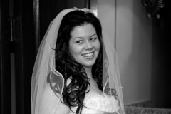 Bride Smiling Inside Deer Creek Golf Club
