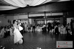 The newlyweds first dance at Kedron Dells Golf Course