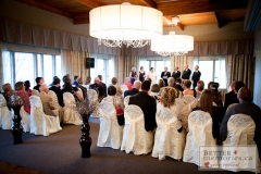 Indoor wedding ceremony at the Oshawa Golf Club