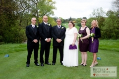 Wedding Party on the Oshawa Golf Club Golf Course
