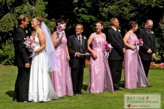 Bridal party outside at the Parkwood Estate