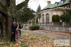 Bride and Groom outdoors at Parkwood Estate in the Fall