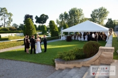 Outdoor wedding reception under a tent at Parkwood