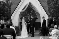 Wedding ceremony in the outdoor chapel at Royal Ashburn Golf Club