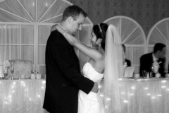 Bride and Groom having their first dance at the wedding reception