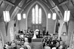 Wedding ceremony in the Trafalgar Castle Chapel