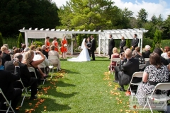 Wedding Ceremony Outside under the arbour