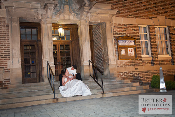 Wedding Photos at Night in Newcastle