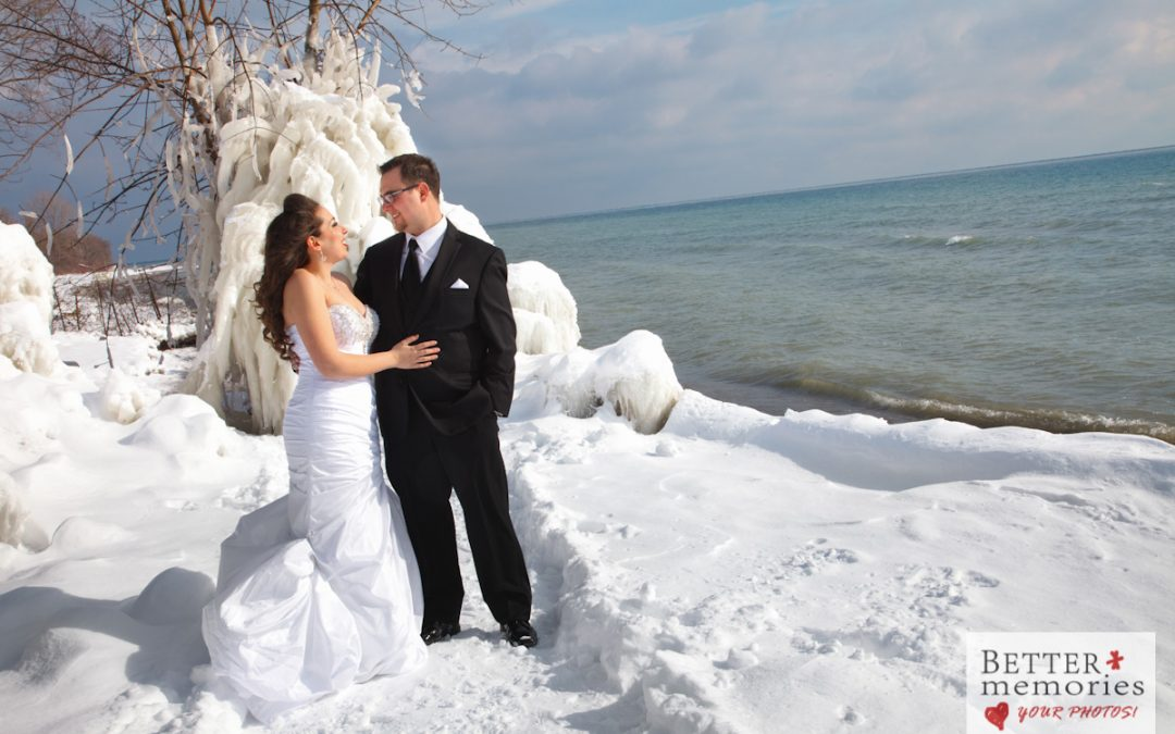 Winter Wedding Photos at Ajax Waterfront